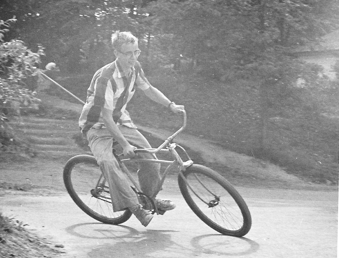 Jonathan on bike