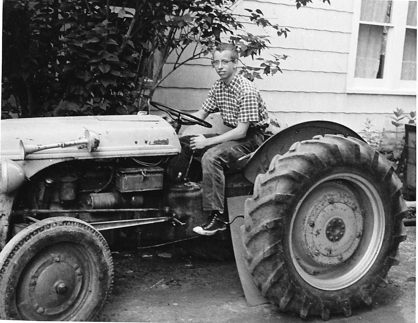 JC on Tractor